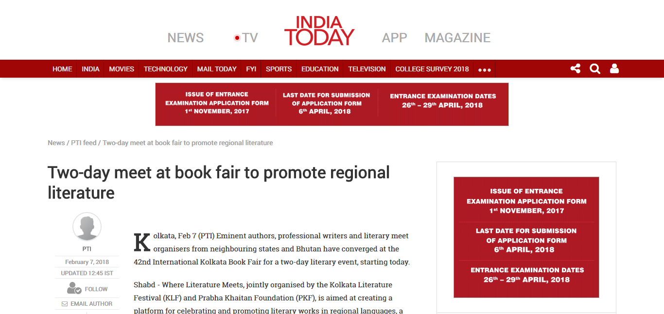Two-day meet at book fair to promote r